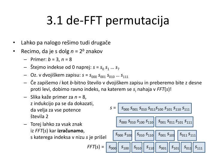 3.1 de-FFT permutacija