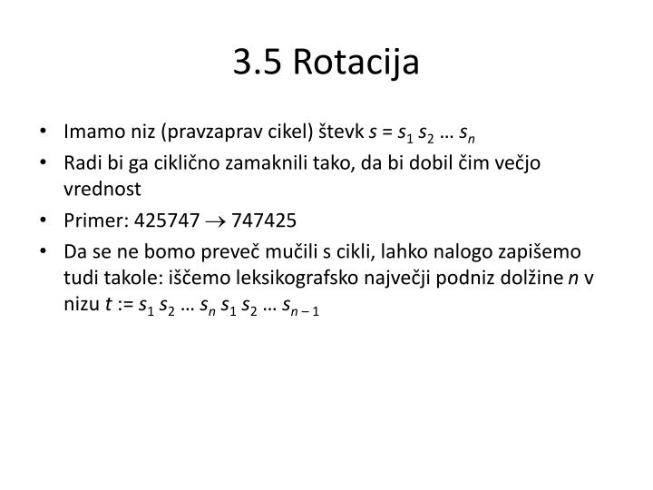 3.5 Rotacija