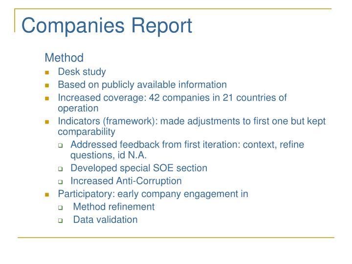 Companies Report