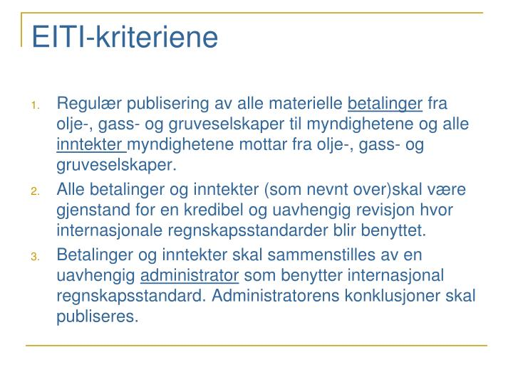 EITI-kriteriene