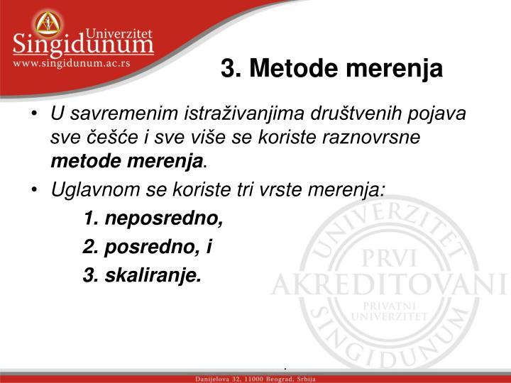 3. Metode merenja