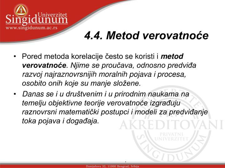 4.4. Metod verovatnoće