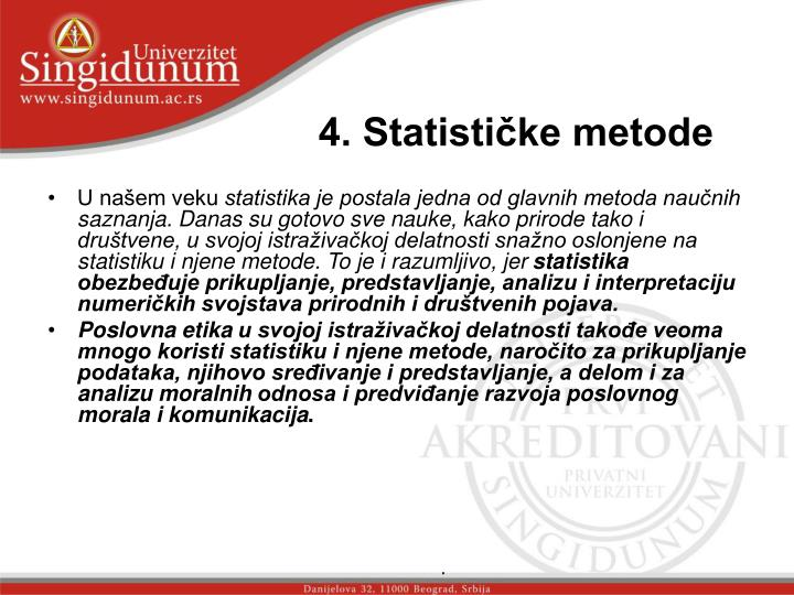 4. Statističke metode