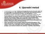 6 uporedni metod