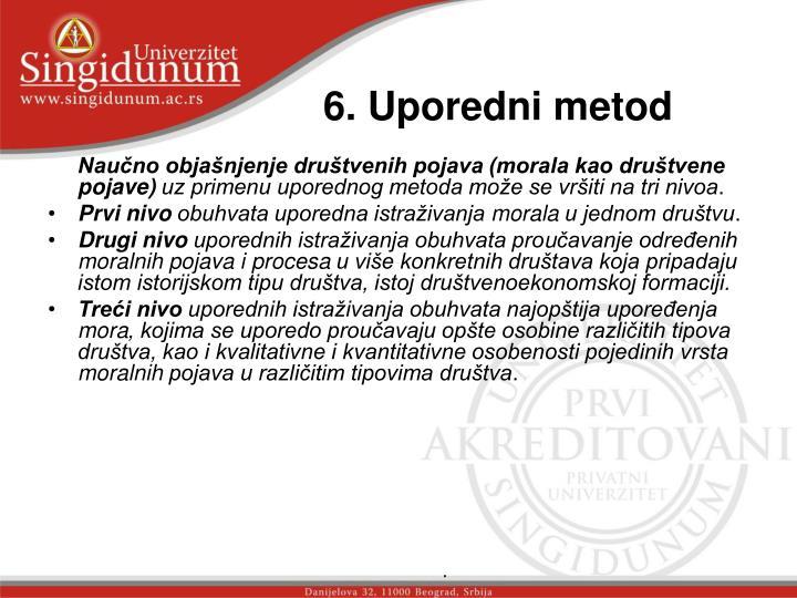 6. Uporedni metod