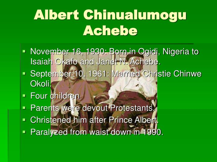 Albert chinualumogu achebe