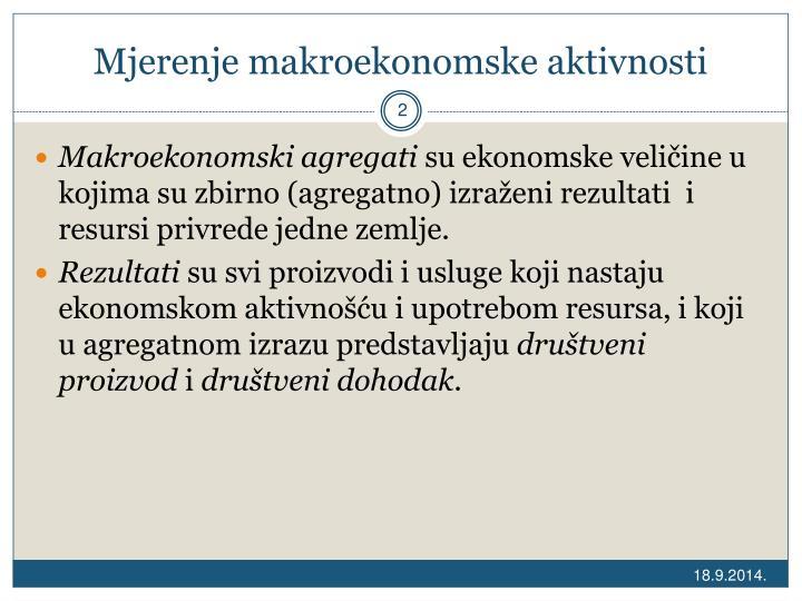 Mjerenje makroekonomske aktivnosti