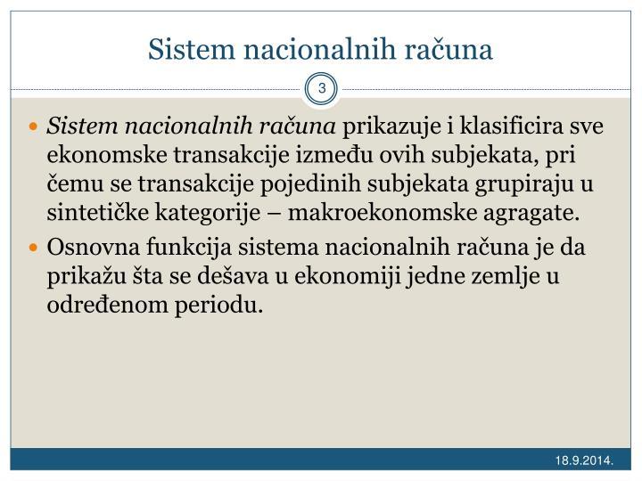 Sistem nacionalnih računa