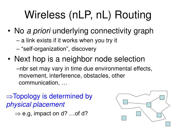 Wireless (nLP, nL) Routing