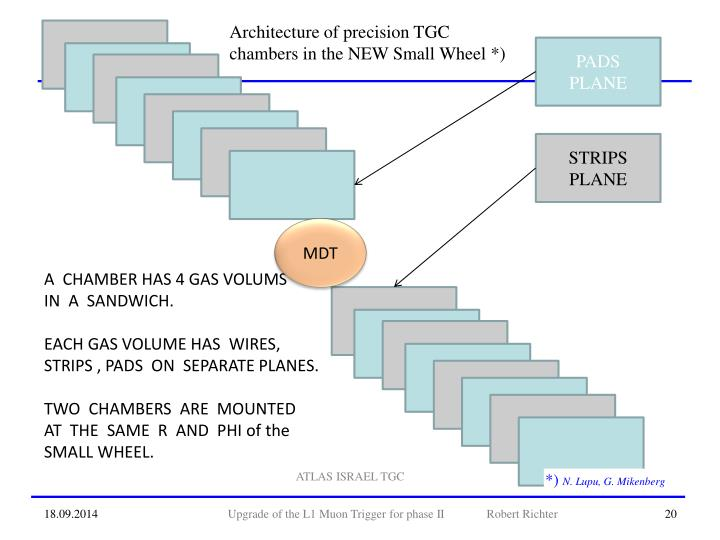 Architecture of precision TGC chambers in the NEW Small Wheel *)
