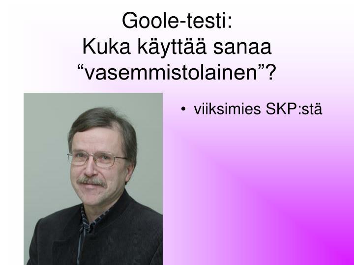 Goole-testi: