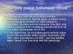 crna gora poslije balkanskih ratova