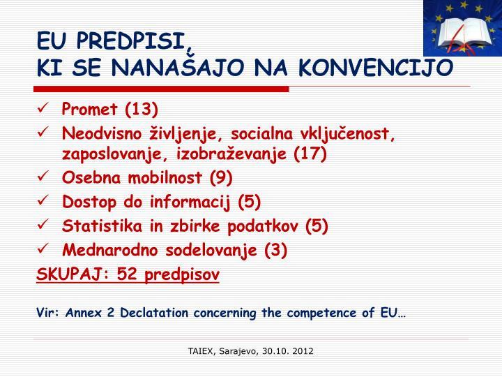 EU PREDPISI,