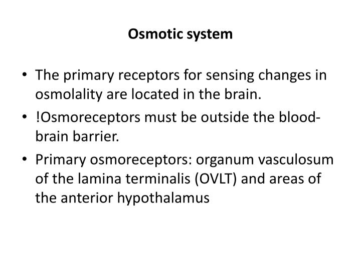 Osmotic system