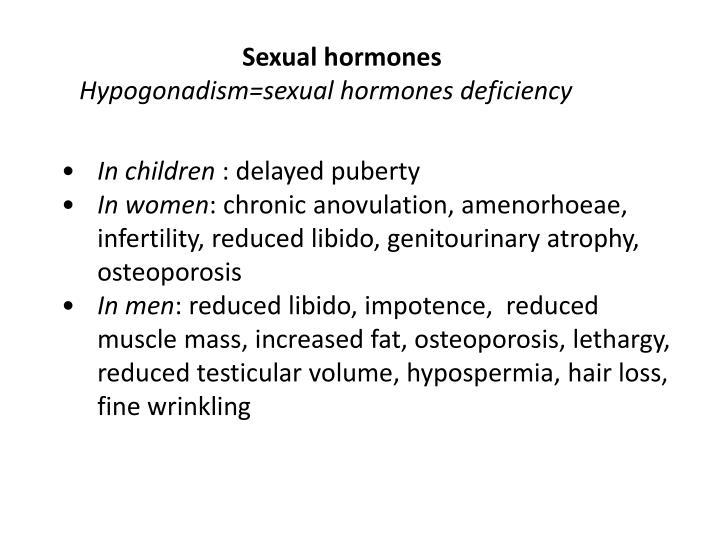 Sexual hormones