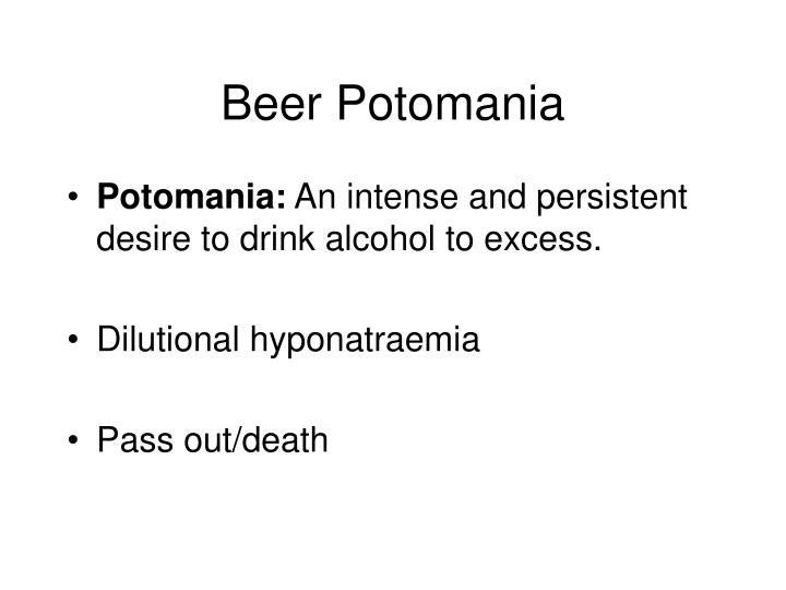 Beer Potomania