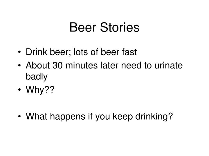 Beer Stories