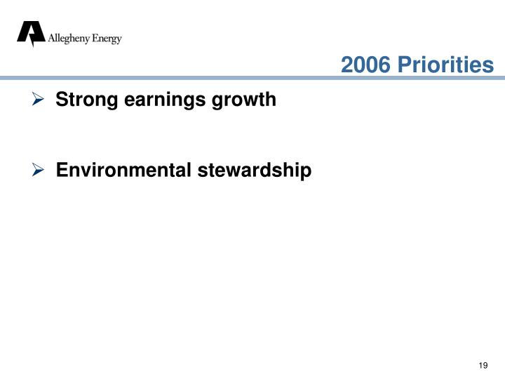 Strong earnings growth