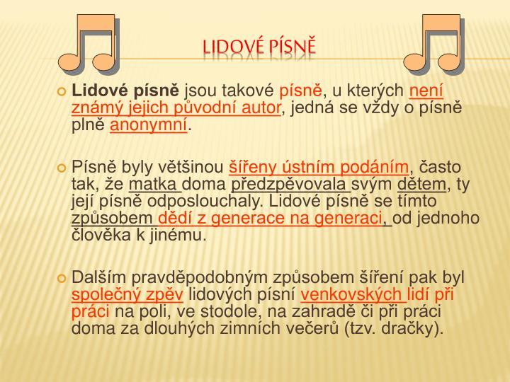 Lidové písně