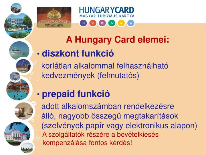 A Hungary Card elemei:
