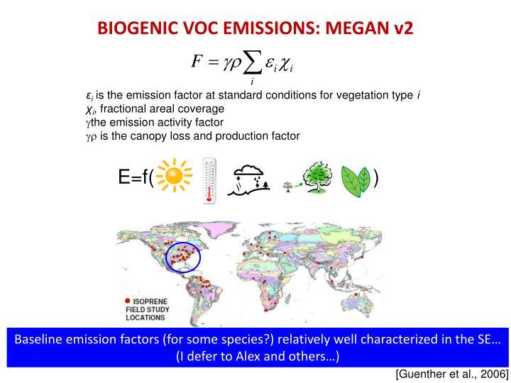 BIOGENIC VOC EMISSIONS: MEGAN v2