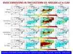 bvoc emissions in the eastern us megan v2 in clm