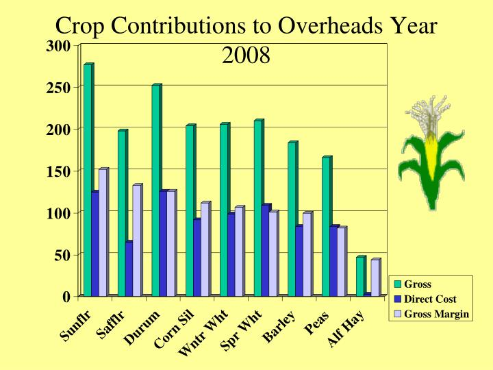 Crop Contributions to Overheads Year 2008