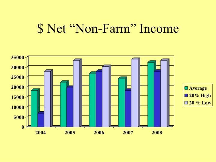 """$ Net """"Non-Farm"""" Income"""