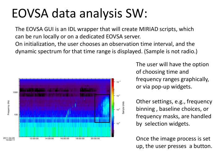 EOVSA data analysis SW: