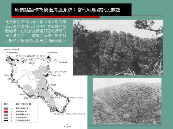地景話語作為象徵溝通系統:當代地理資訊民族誌