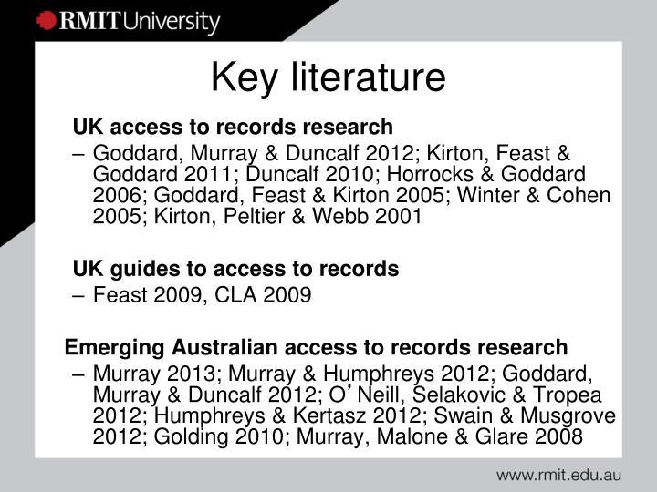 Key literature