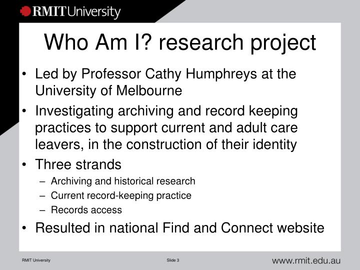 Who am i research project
