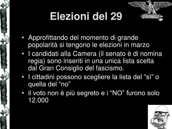 Elezioni del 29