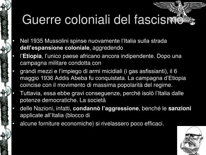 Guerre coloniali del fascismo