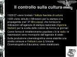 il controllo sulla cultura