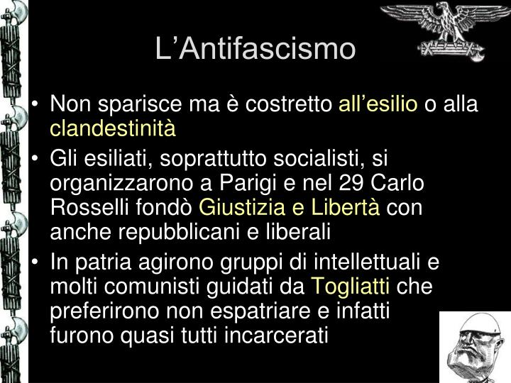 L'Antifascismo