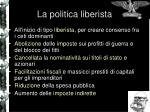 la politica liberista