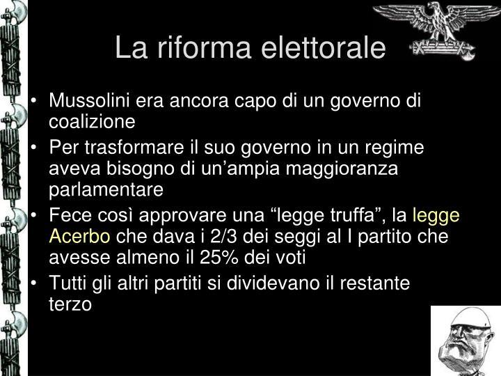 La riforma elettorale