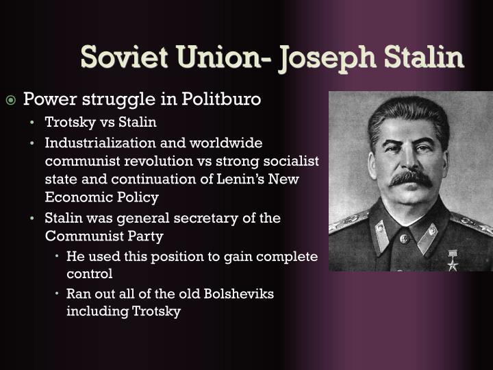 Soviet Union- Joseph Stalin