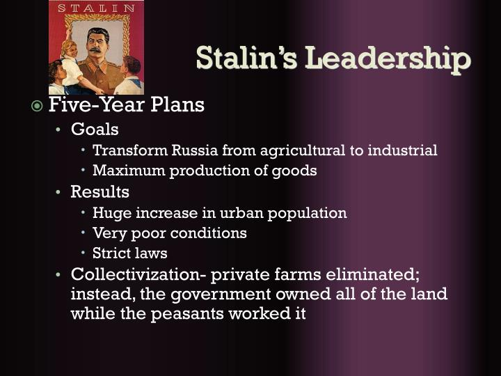 Stalin's Leadership