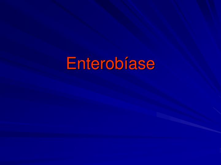 Enterobíase