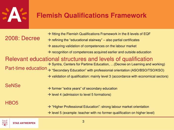 Flemish Qualifications Framework