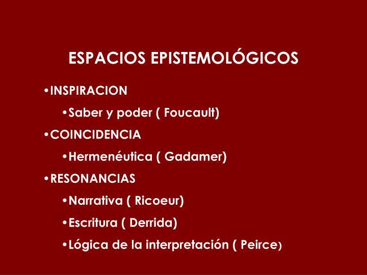 ESPACIOS EPISTEMOLÓGICOS