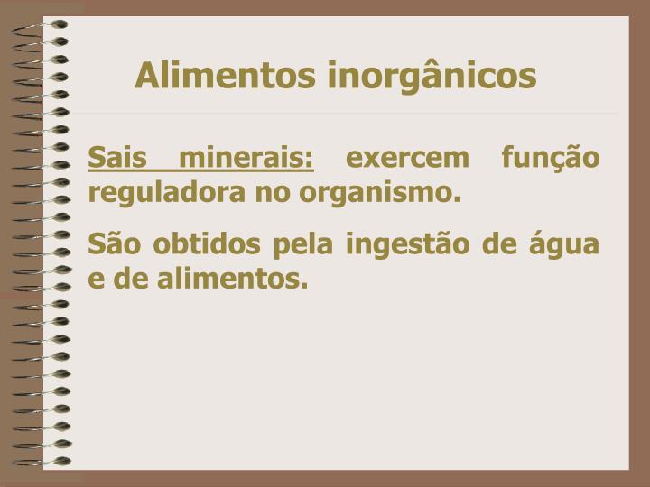 Alimentos inorgânicos