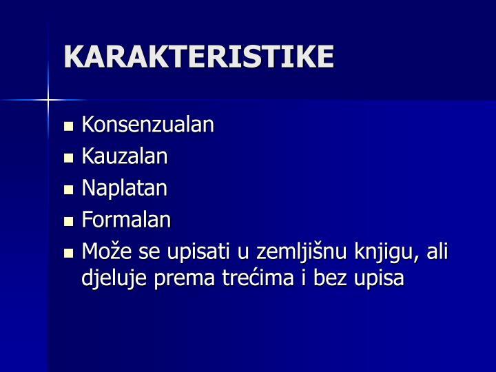 KARAKTERISTIKE