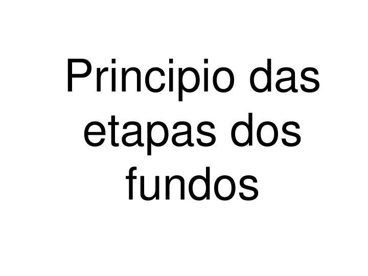 Principio das etapas dos fundos