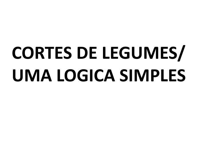CORTES DE LEGUMES/