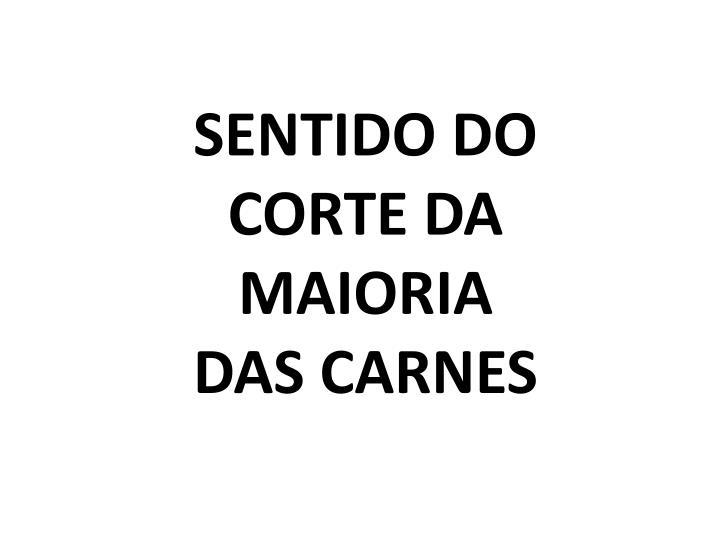 SENTIDO DO