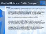 clarified rule from ovw example 1