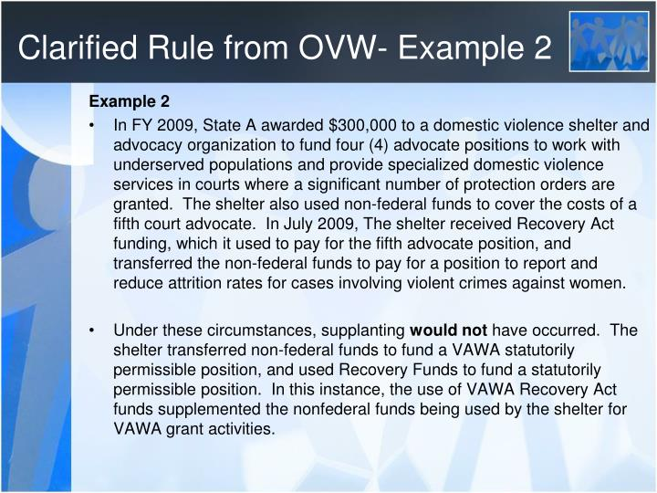 Clarified Rule from OVW- Example 2